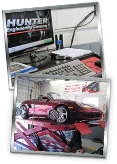 Hunter DIgital Aligment being performed on a Porsche boxter.